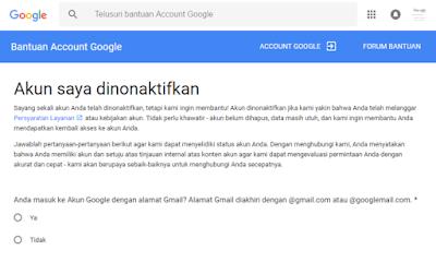 Cara Mengaktifkan Kembali Gmail Yang Di Disable Terbaru