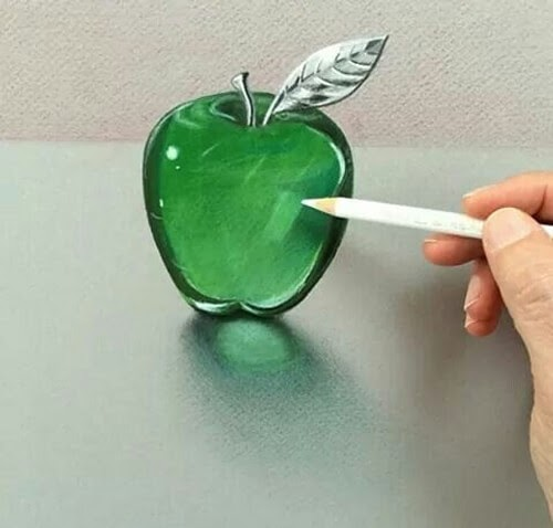 07-Green-Apple-Leonardo-Pereznieto-Swarovski-Crystal-Drawings-www-designstack-co