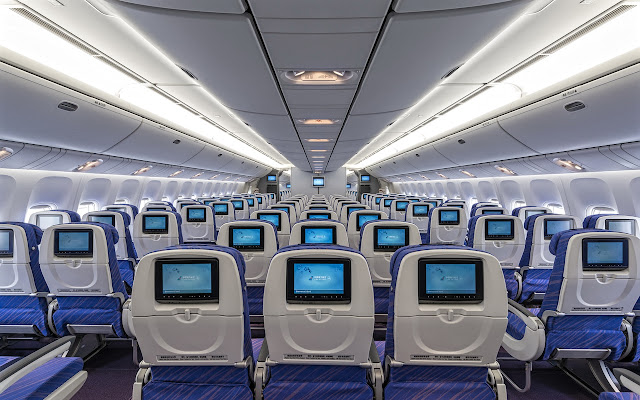 Boeing 777-300 China Southern Airlines Economy Class Seating and Entertainment System
