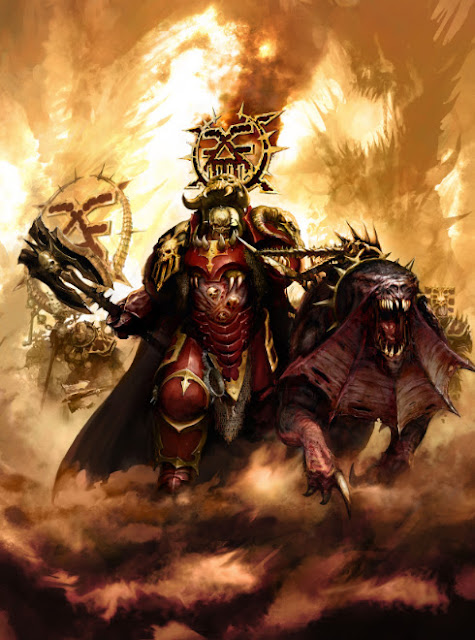 Warhammer age of sigmar mighy lord of khorne artwork battle ilustration fantasy 2