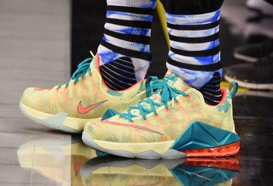 6cc3b230e3e4 ... real here is a look at the nike lebron 12 low sneaker king james wore  shooting