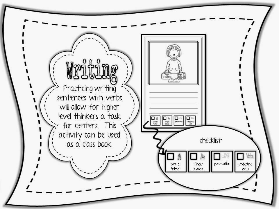 Primary Graffiti: Verbs {Interactive Journal Pages and