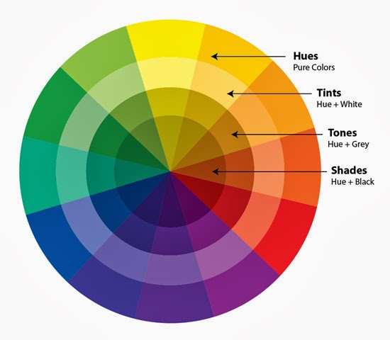 To Make My Layout With Complementary Colors I Selected Pink And The Opposite Shade On Color Wheel Which Is Between Green Blue
