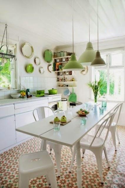 Decorar una cocina estilo vintage colores en casa - Cucine anni 70 ...