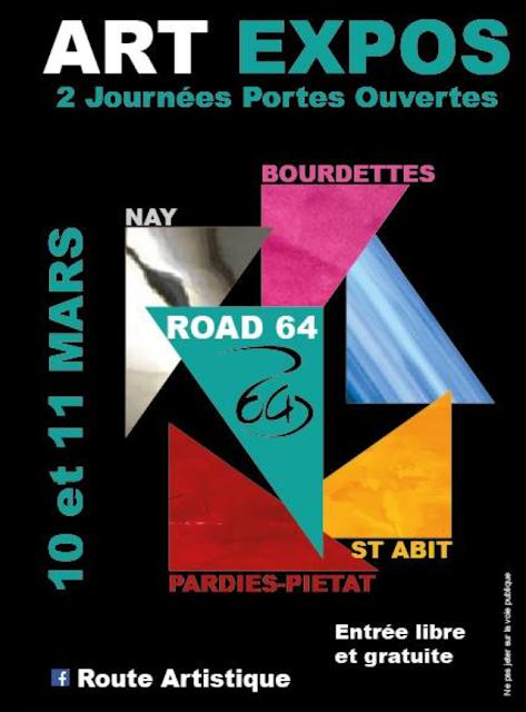 ROAD 64 La Route Artistique Portes ouvertes Mars 2018