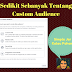 Serba Sedikit Tentang Custom Audience Facebook