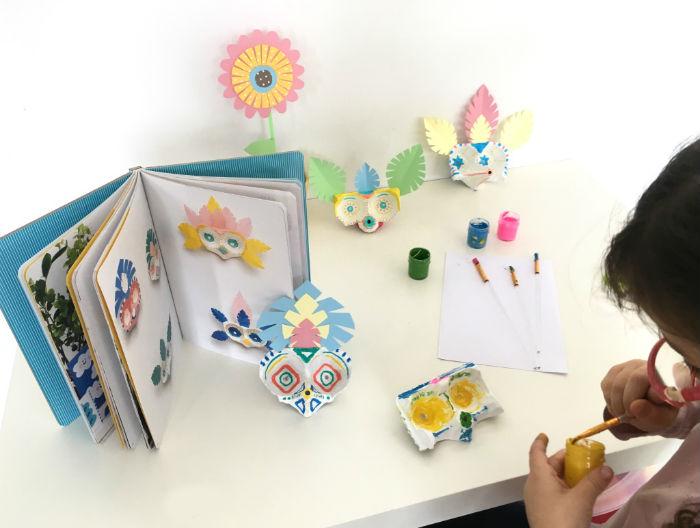 libros manualidades infantiles niños Taller reciclaje y estampación, creatividad