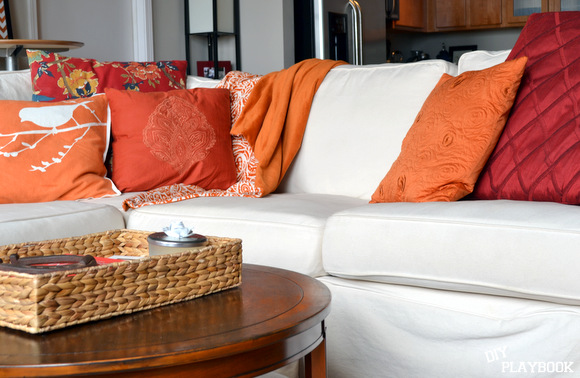 This white slipcover is removable and 100% machine washable!