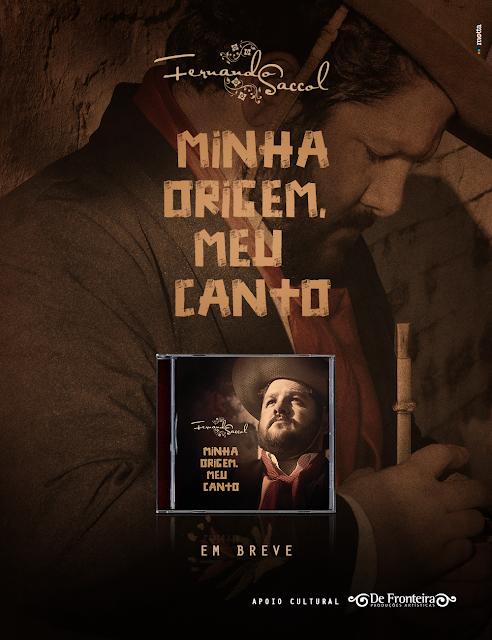 Cantor nativista Fernando Saccol lança seu primeiro CD