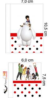 Etiquetas de Big Hero 6 para imprimir gratis.