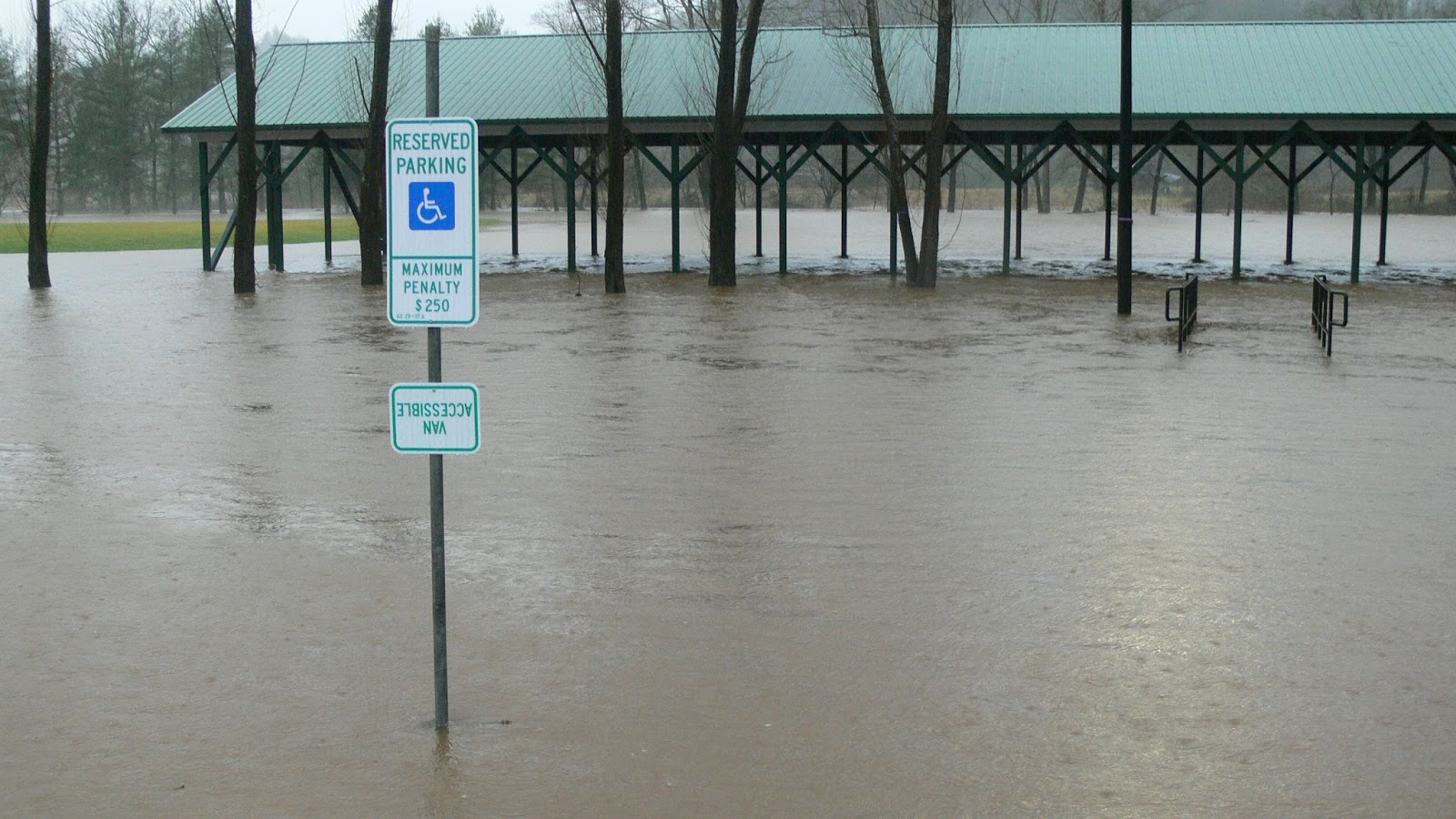 Flooded Building at Parker Meadows Recreational Complex