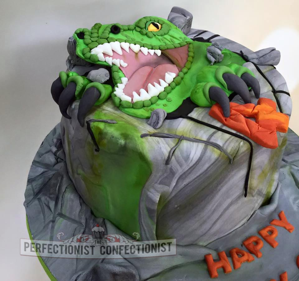 The Perfectionist Confectionist Charlie TRex Birthday Cake