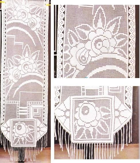 Idees De Fait Main Modele De Rideau Au Crochet Avec Grille