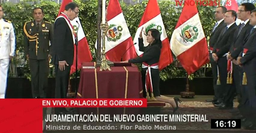 MINEDU: Flor Pablo Medina juramentó como nueva Ministra de Educación - www.minedu.gob.pe