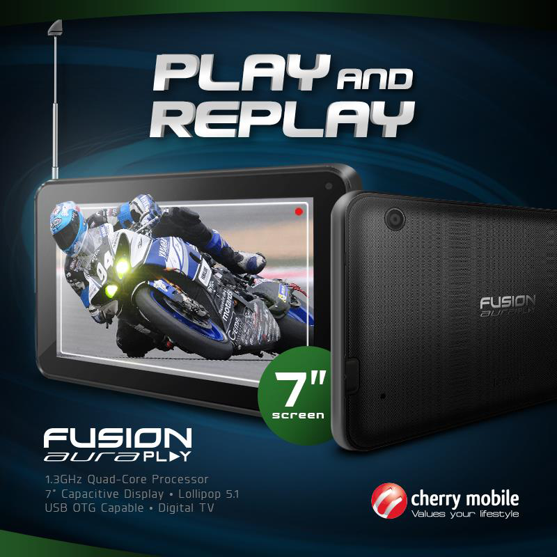 Cherry Mobile Fusion Aura Play With DTV Now Available, Retails At 2499 Pesos Only!