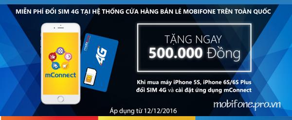 Đổi sim 4G - Ưu đãi bất ngờ cùng Mconnect tặng ngay 1 triệu đồng