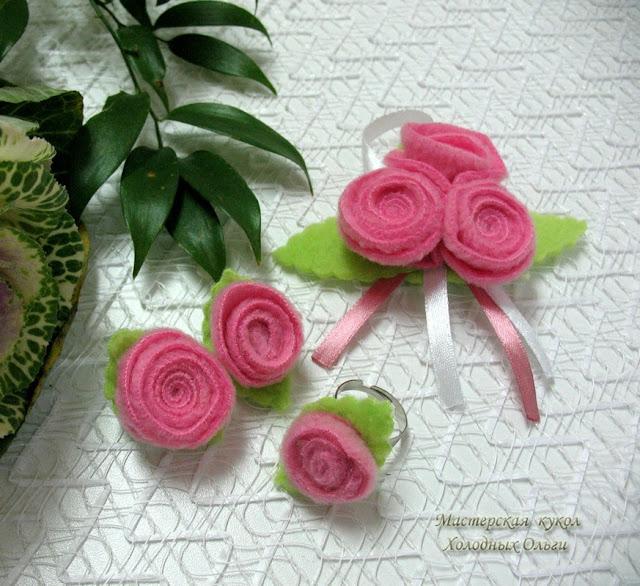 Комплект Розовые розы