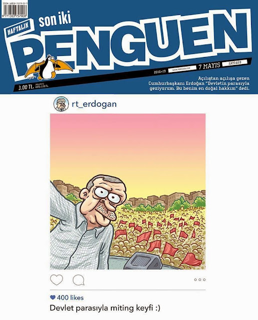 tayyip erdoğan miting karikatür