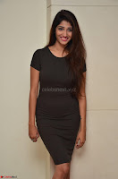 Priya Vadlamani super cute in tight brown dress at Stone Media Films production No 1 movie announcement 007.jpg