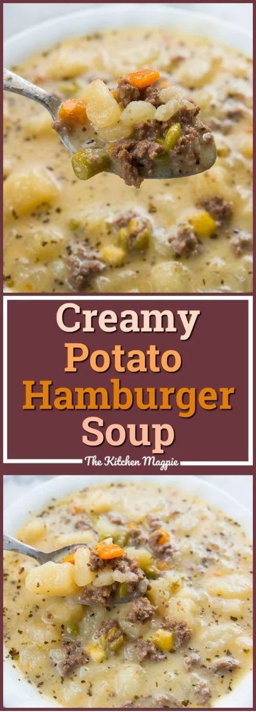Creamy Potato & Hamburger Soup