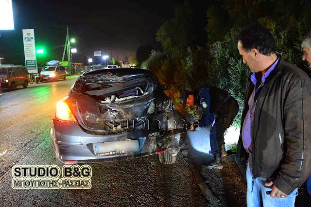 Τροχαίο ατύχημα με εγκατάλειψη στο Ναύπλιο