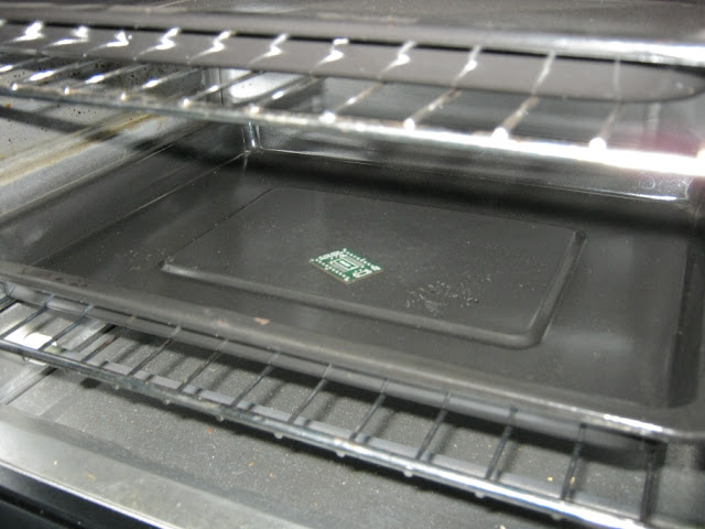 Toaster Oven Reflow Test Set-Up
