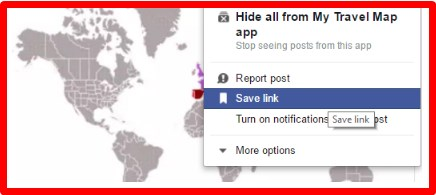 How to save a post on facebook