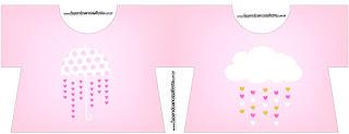 Tarjeta con forma de camisa de Lluvia de Bendiciones para Nena.