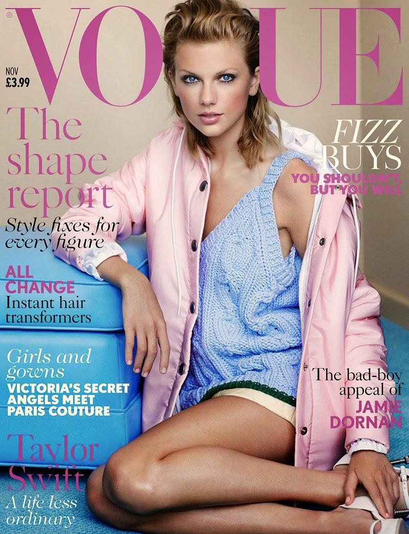 Taylor Swift covers Vogue UK November 2014 in a Miu Miu design 9e4a10dd716b2