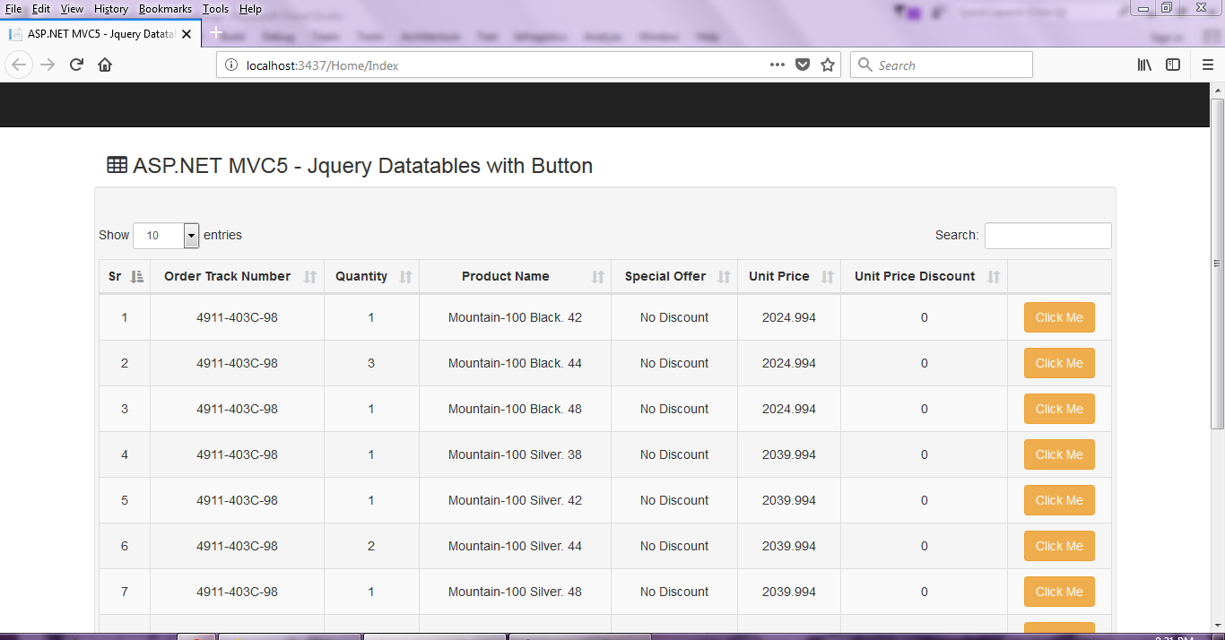 ASP.NET MVC5: Buttons in Datatables Jquery plugin - Asma's ...