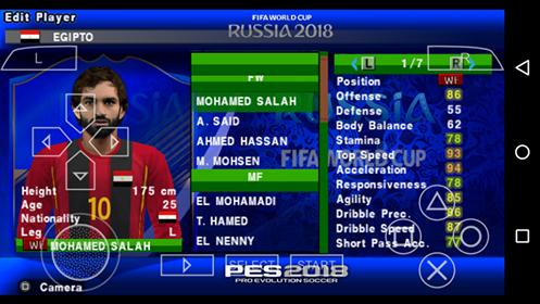 تحميل لعبة بيس 2018 للاندرويد مود كاس العالم روسيا ودوري الابطال بحجم 400mb