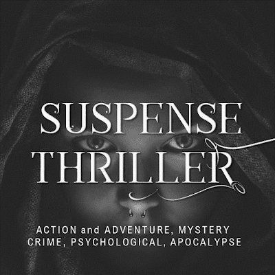 Suspense thriller premade covers
