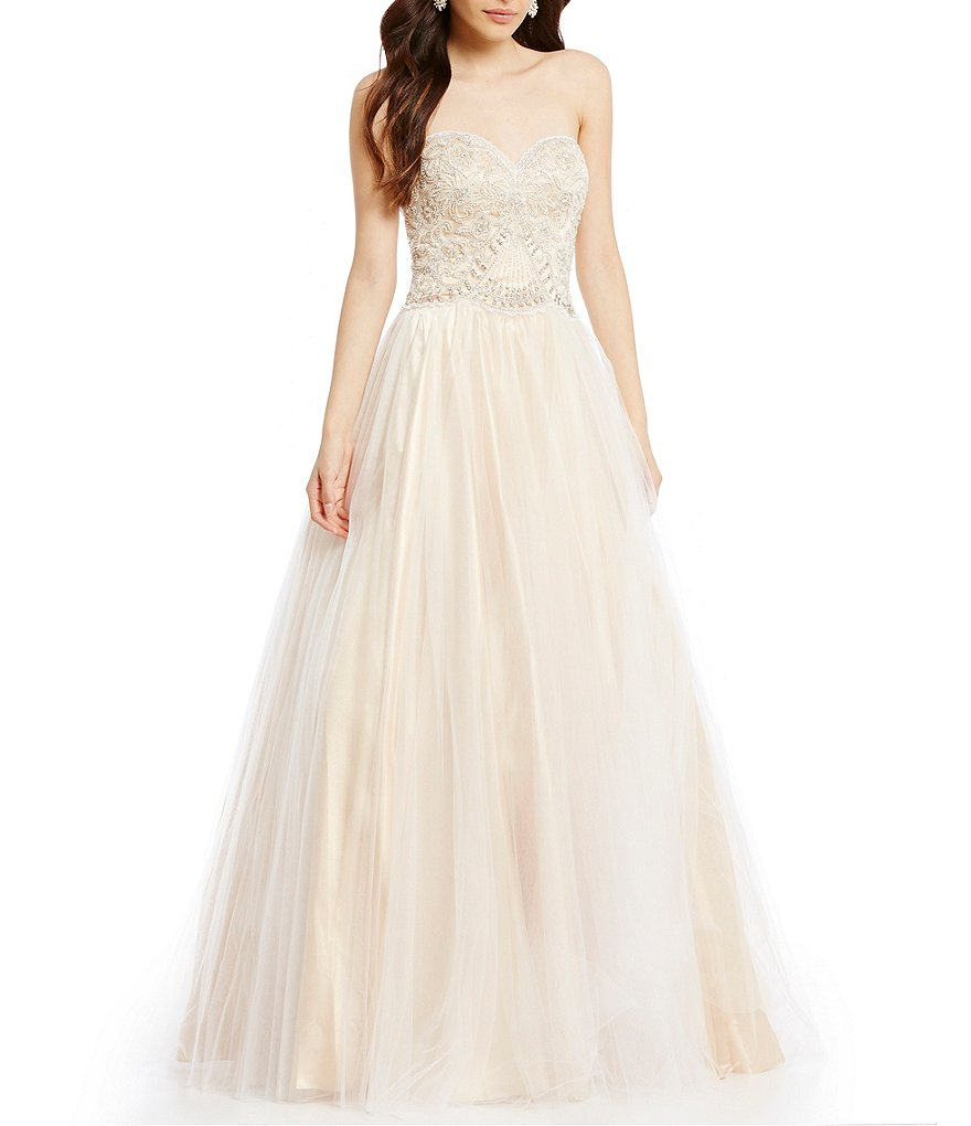 Dillard\'s: $92.85 (Reg. $379) Glamour by Terani Couture Strapless ...