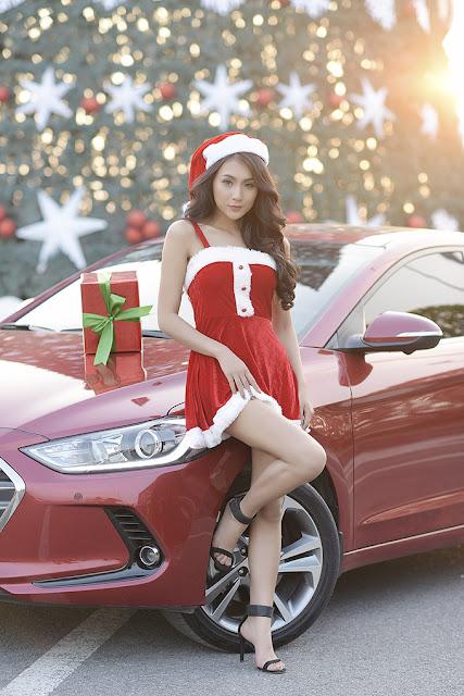 Mùa đông không lạnh của người đẹp bên Hyundai Elantra 2017 thh 6353
