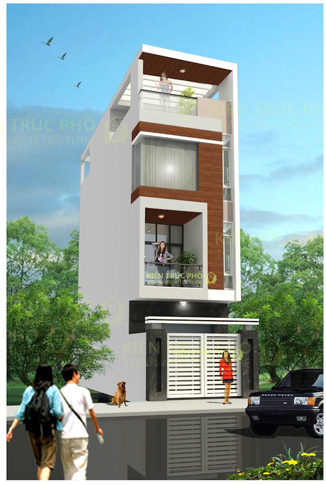 Mẫu nhà phố 4 x20 mét chuẩn thiết kế có file autocad tham khảo.