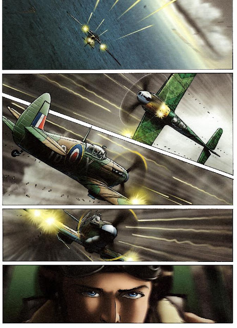 WW2 dogfight comic
