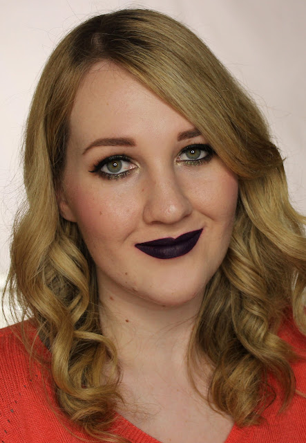 LA Girl Flat Matte Pigment Gloss - Black Currant Swatches & Review