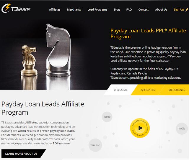 T3Leads - агрегатор партнерских программ в сфере микрофинансирования и кредитования.