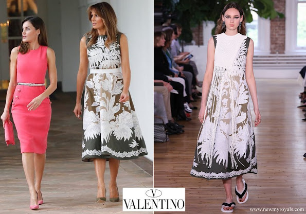 Melania Trump wore Valentino Dress from Resort 2018 Collection