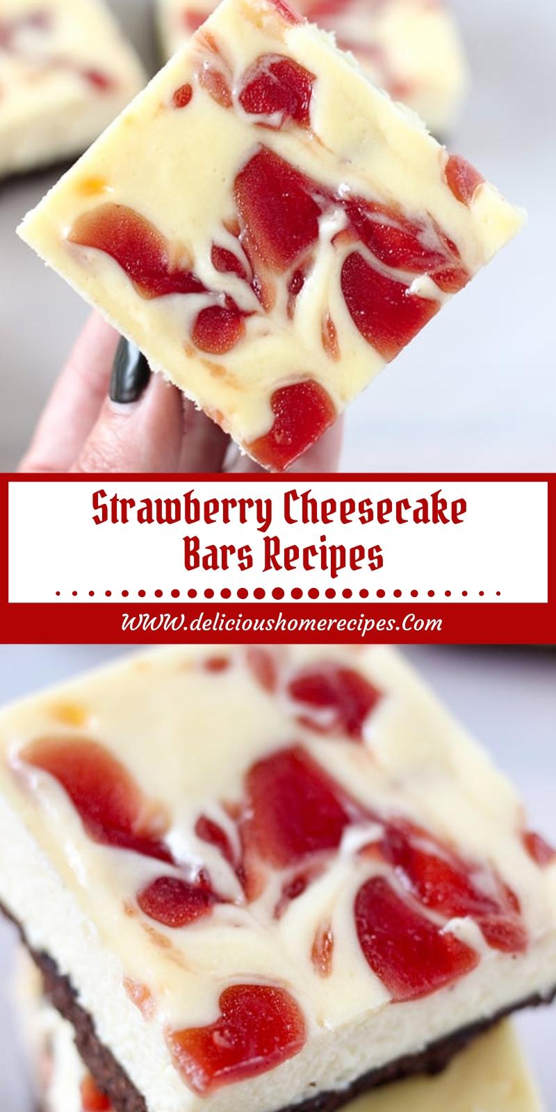Strawberry Cheesecake Bars Recipes