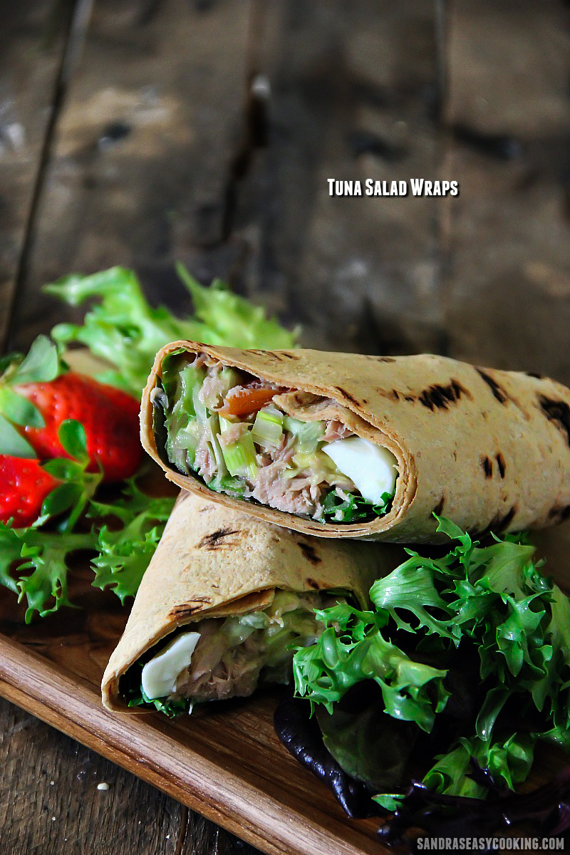 Simple, delicious, and easy Tuna #Salad Wraps - for more #recipes, visit my blog at sandraseasycooking.com