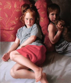 realistas-pinturas-de-niños-composiciones-artisticas pinturas-niños-cuadros