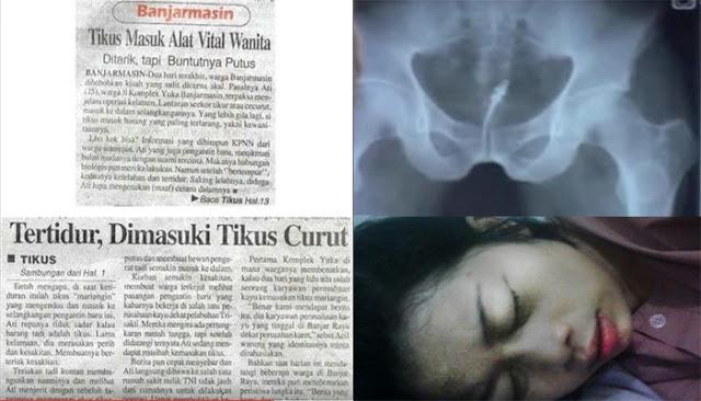 Alat Vital Wanita Ini Dimasuki Tikus Curut Setelah Kelelahan di Malam Pertama Lalu Tidur Tak Pakai CD
