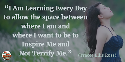 "71 Quotes About Life Being Hard But Getting Through It: ""I am learning every day to allow the space between where I am and where I want to be to inspire me and not terrify me."" - Tracee Ellis Ross"