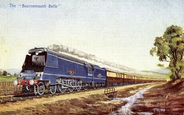 Image result for bournemouth belle train