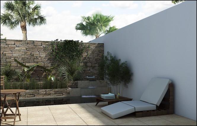 C mo dise ar y decorar el patio trasero decorando mejor for Como decorar mi patio con piedras