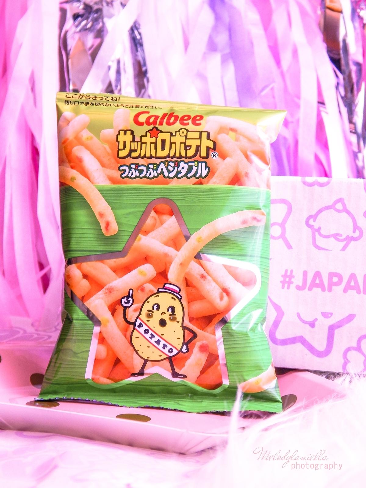 3 melodylaniella photography partybox japan candy box pudełko pełne słodkości z japonii azjatyckie słodycze ciekawe jedzenie z japonii cukierki z azji boxy z jedzeniem calbee sapporo vegetable fries
