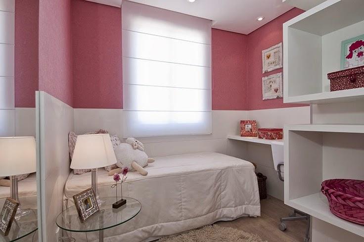 quarto de menina com marcenaria planejada branca