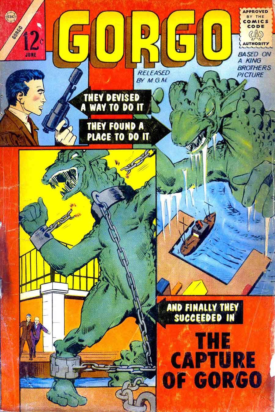 Gorgo v1 #13 charlton monster comic book cover art by Steve Ditko