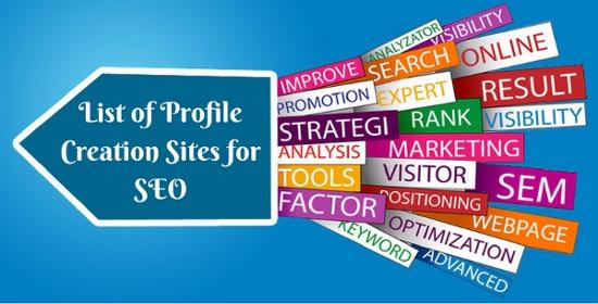 List of Profile Creation Sites